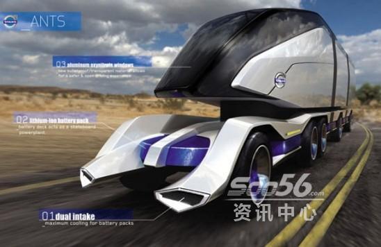 近日,国外设计师alex marzo设计的volvo ants概念卡车或许给出了答案.